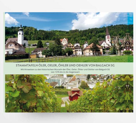 Stammtafeln Öler, Oeler, Öhler und Oehler von Balgach SG - ISBN-978-3-033-06203-0